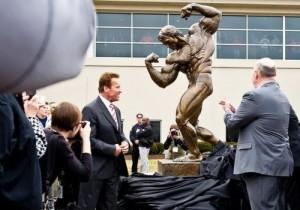 Monument to Arnold Schwarzenegger