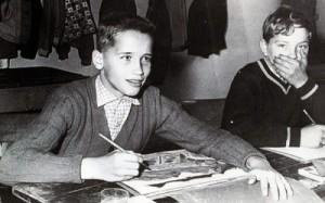 Schwarzenegger in his school age