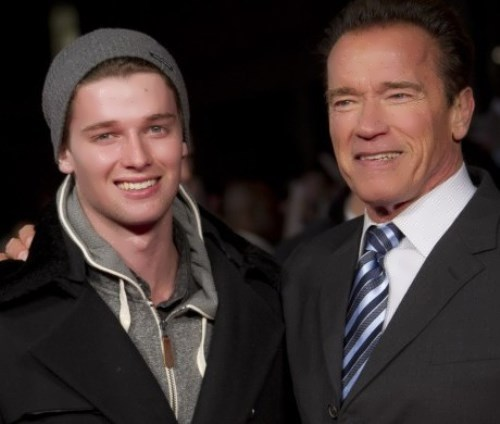 Schwarzenegger and his son