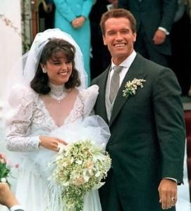 Schwarzenegger and his wife