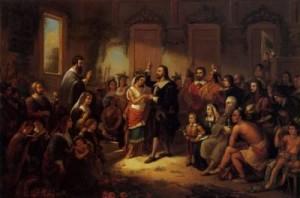 William Rasmussen. Wedding of Matoaka and John Rolf