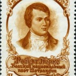 Soviet stamp dedicated to Burns