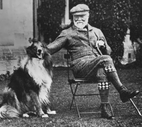 Carnegie and his dog