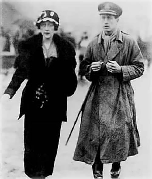Agatha and her first husband Archibald Christie, 1919