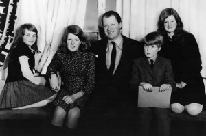 Diana with her sisters, father and brother, 1970