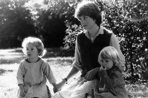 Diana as a nanny, a year before she married Prince Charles