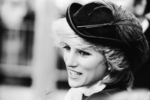 Princess Diana during her visit to Wales in October 1981