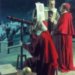 Galileo shows the telescope to cardinals