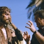 Gibson on the set of the film - The Passion of the Christ