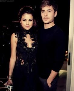 Zac and Selena Gomez