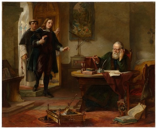 Solomon Alexander Hart. Milton visiting Galileo when a prisoner