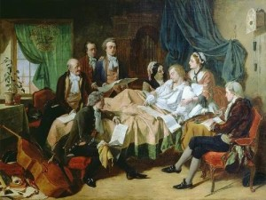 Henry Nelson O'Neil. The last hours of Mozart's life