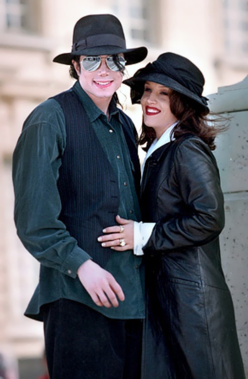 Jackson and his first wife Lisa Marie Presley