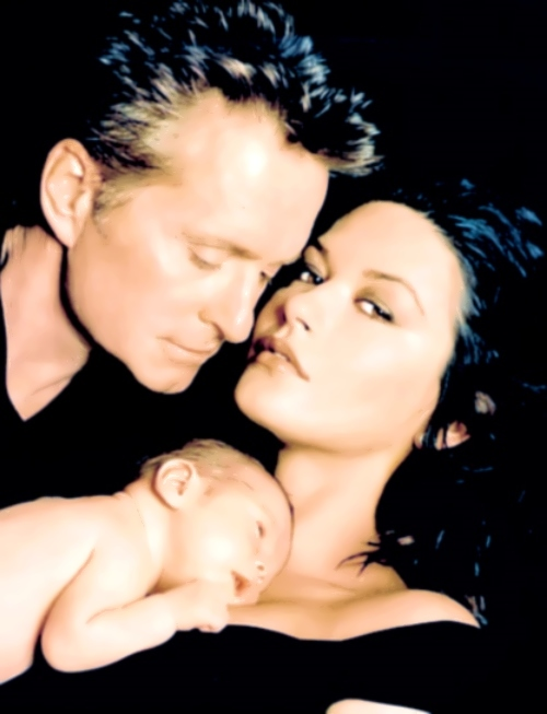 Catherine, her husband and their son, 2000