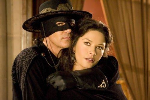 Catherine and Antonio Banderas in The Mask of Zorro