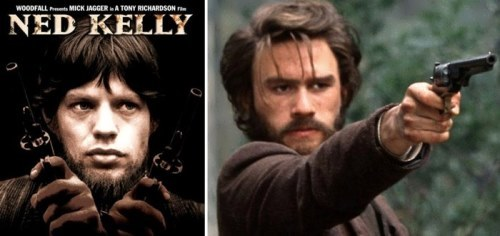 Ned Kelly by Mick Jagger (1970) and Heath Ledger (2003)