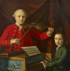 Unknown Painter. Leopold and Wolfgang Mozart