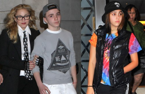 Madonna and her children – Lourdes and Rocco