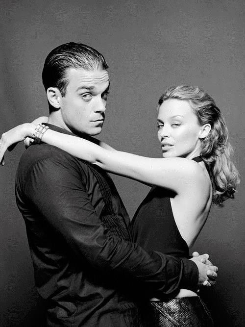 Kylie Minogue and Robbie Williams