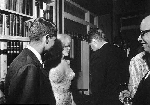 Marilyn Monroe, John and Robert Kennedy
