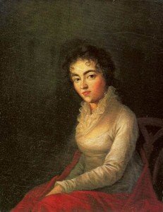 Josef Lange. Portrait of Constanze Mozart, 1782