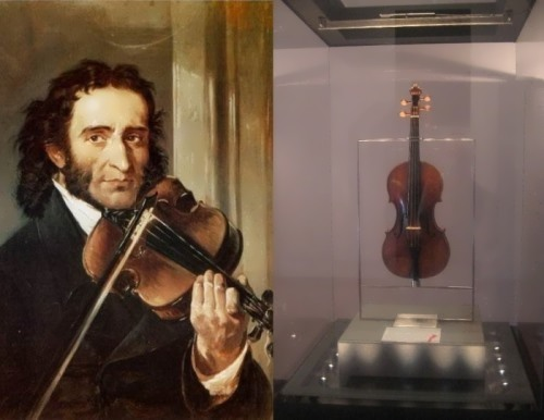The widow of Paganini - favorite violin of maestro