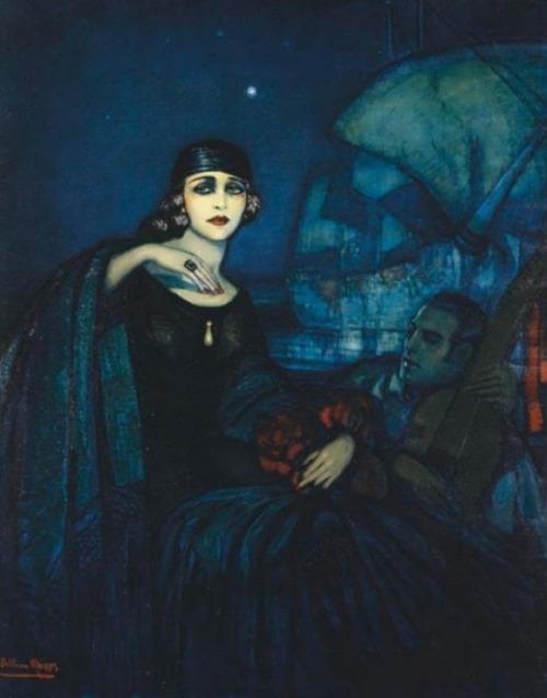 Federico Armando Beltran Masses. Rudolph Valentino and Pola Negri. 1926