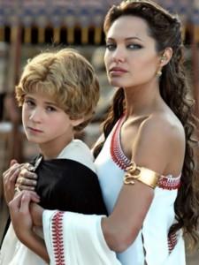Angelina Jolie in the movie Cleopatra