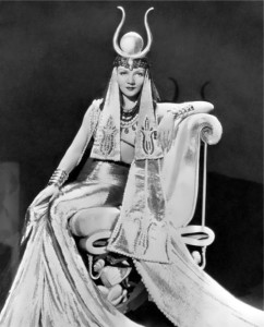 Claudette Colbert in the movie Cleopatra, 1934