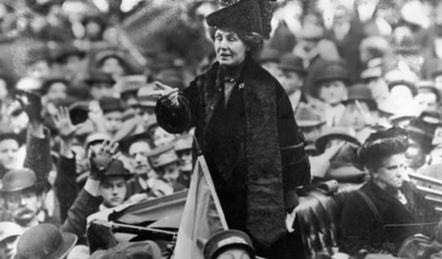 Pankhurst - leader of the British suffragette movement