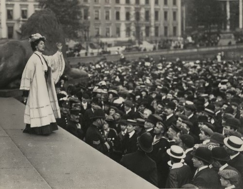 Pankhurst is performing with her speech