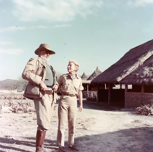 Ernest and Mary Hemingway in Kenya, 1953