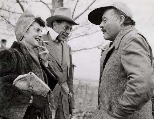 Hemingway, Gary Cooper and his wife Veronica, 1941