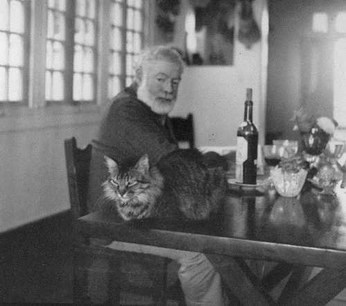 Hemingway at his home in Cuba. Last Photo