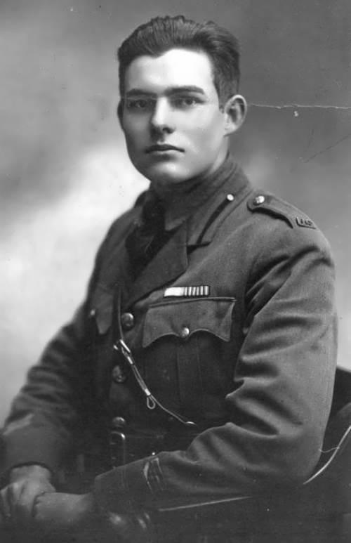 Hemingway, an American Red Cross volunteer. Milan, Italy, 1918