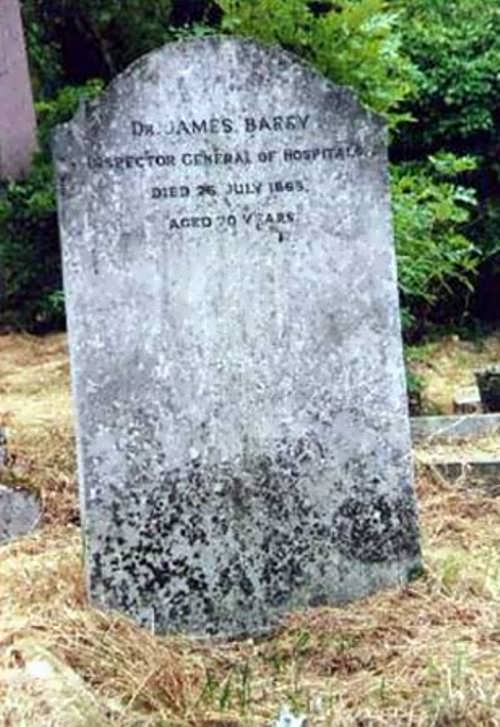Grave of James Barry - the most prominent and progressive military surgeons of his time