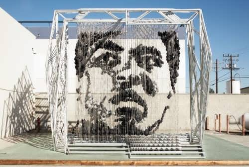 Michael Kalish created a three-dimensional portrait of the famous boxer