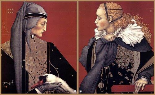 Michael Parkes, the portraits of Dante and Beatrice