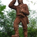 Monument to David Livingstone at Victoria Falls
