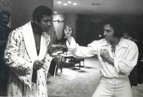 Ali and Elvis Presley, 1973