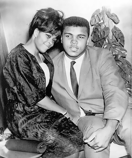 Ali and his first wife Sonji Roi, 1964. Associated Press