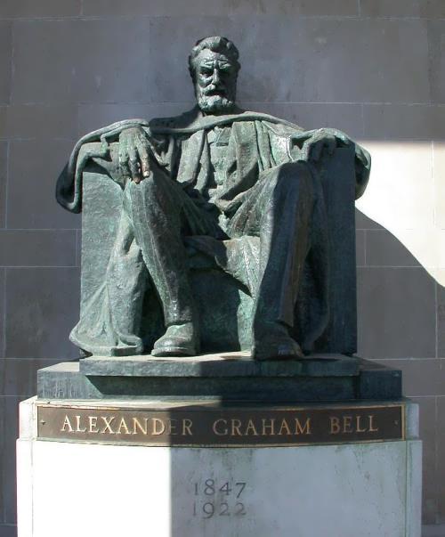 Monument to Alexander Graham Bell in Brantford