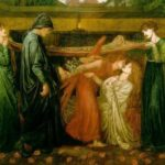 Pinacoteca Rossetti. Dante dreams at the time of the death of Beatrice