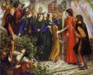 Pinacoteca Rossetti. Beatrice meeting Dante at a marriage feast