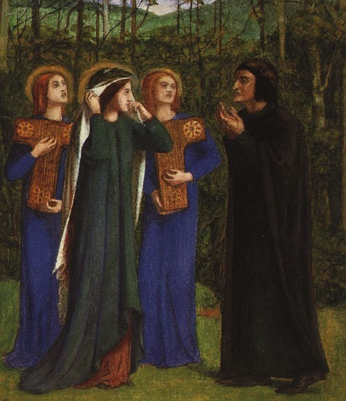 Pinacoteca Rossetti. The meeting of Dante and Beatrice in Paradise