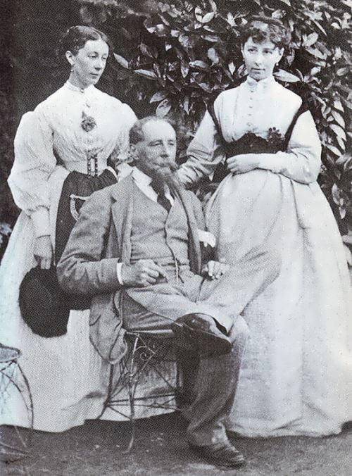 Dickens with his daughters Mamie and Kate. (Hulton Archive Getty Images)