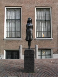 Monument to Anne Frank in Amsterdam
