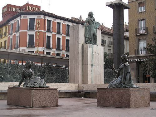 Monument to Goya in Saragossa