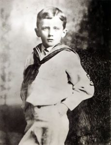 Portrait of Joyce at the age of 6 in a sailor suit. Bray, 1888