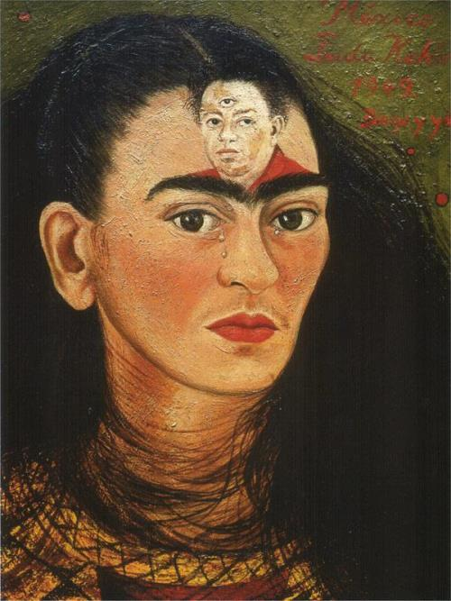 Frida Kahlo. Diego and me. Self Portrait, 1949